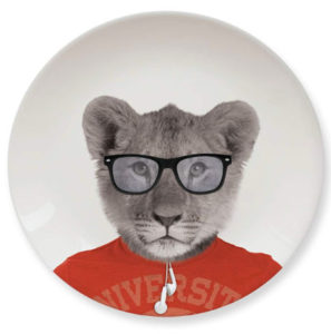 Cool lion special plate for kids and teens