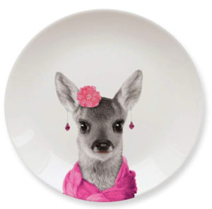 Cute deer special plate for kids and teens
