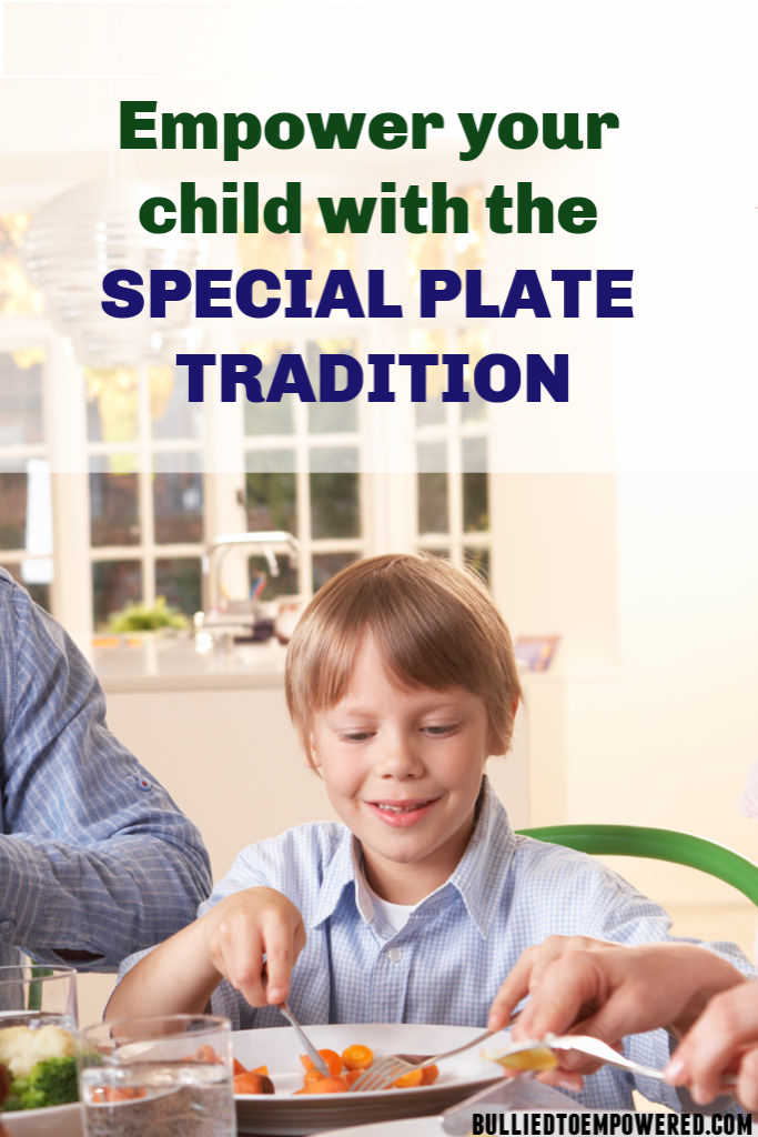 Empower your child with the special plate tradition