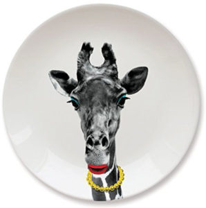 Cute giraffe special plate for kids